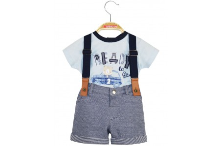 BABY SET 100% COTTON + 90% COTTON -10% POLYESTER OCEAN BLUE