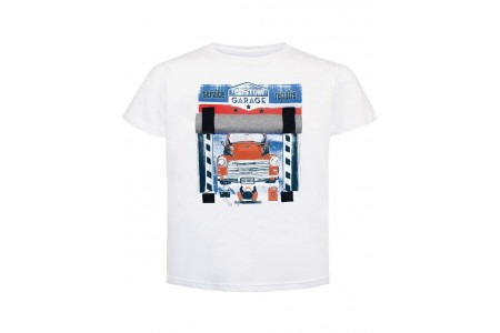 T-SHIRT BOY SHEET 100% COTTON  WHITE