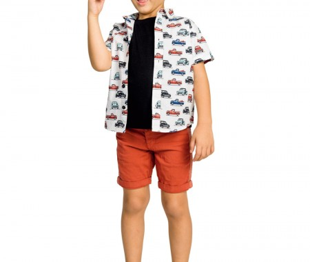 VERMOUDA BOBE BOY 98% COTTON -2% ELASTAN TABASCO
