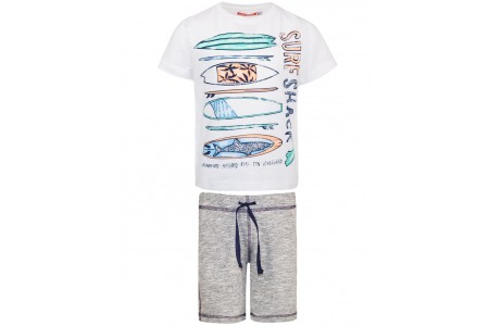 VEBE BOY SET 100% COTTON GREY