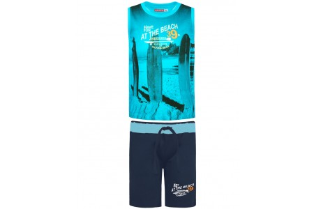 BOYS SET 100% COTTON BOYS  OCEAN BLUE
