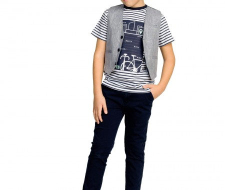 Boy's trousers 98% COTTON -2% ELASTAN INDIGO