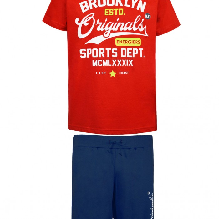 100% COTTON BOYS SET RED