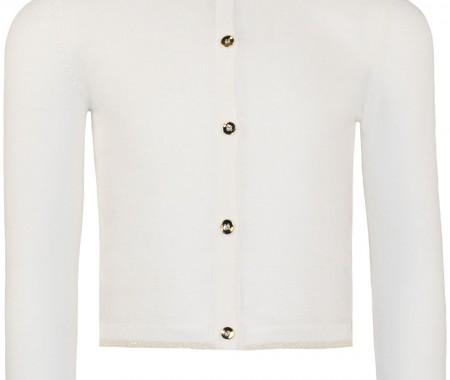 Baby Girl Jacket 98% Cotton-2% LUREX ECRU