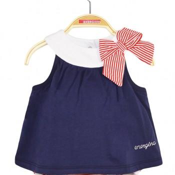 BABY GIRL FORM 95% COTTON -5% ELASTAN INDIGO