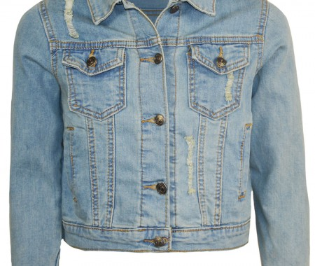 JACKET GIRLS VEVE 98% COTTON -2% ELASTAN BLUE JEAN