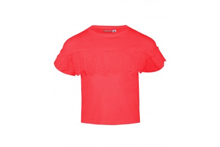 GIRLS T-SHIRT ΒΕΒΕ 100% COTTON CHERRY