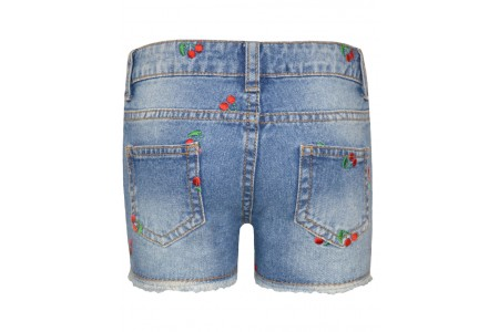 GIRLS SWEET SHORTS 98% COTTON -2% ELASTAN BLUE JEAN