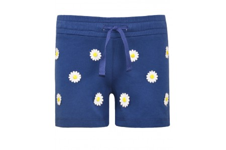GIRLS shorts 92% COTTON -8% ELASTAN INDIGO