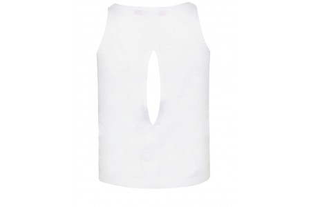 GIRLS T-SHIRT ΒΕΒE 100% COTTON WHITE