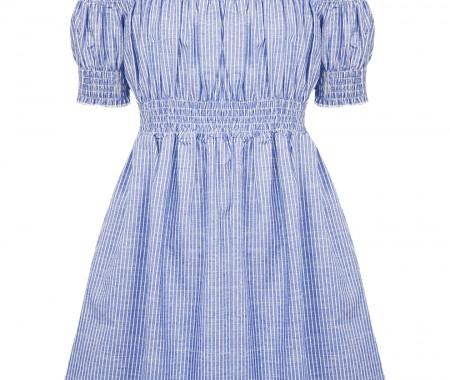 CHILDREN'S DRESS 100% COTTON STRIPED