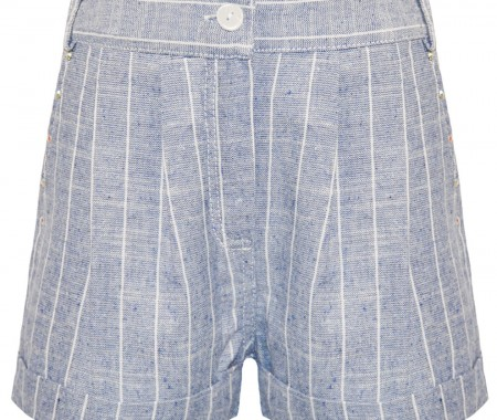 GIRL SHORTS 65% COTTON -35% POLYESTER STRIPED