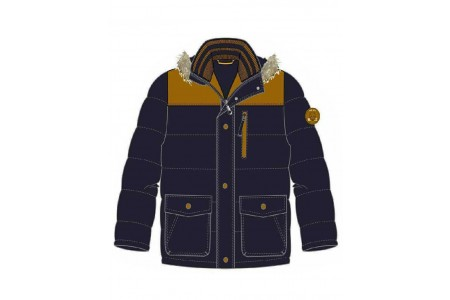 JACKET BOY BEBE POLYESTER OCEAN BLUE