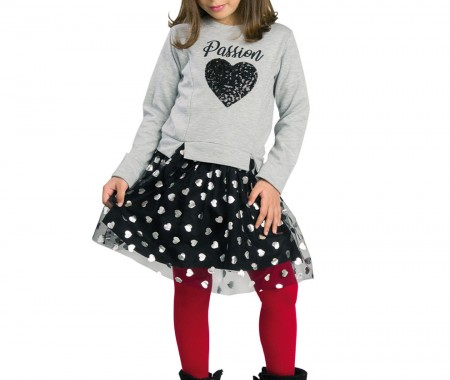 Dress with reversible sequins MELANGE