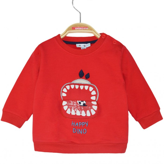 Cotton sweatshirt set with applique