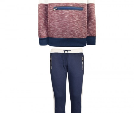 Sweatshirt form with decorative zippers and print
