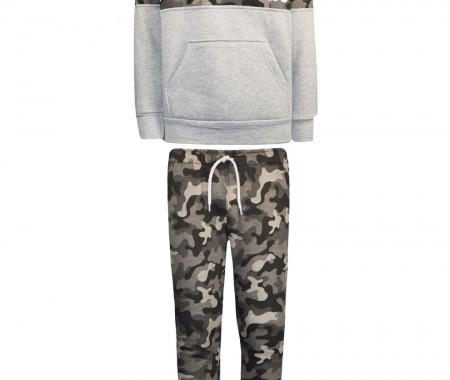 Army sweatshirt print and hood