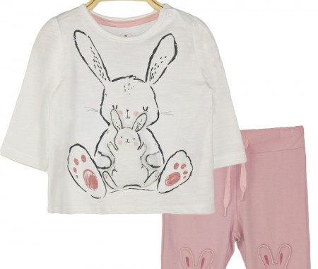Mako blouse and leggings set with bunny design