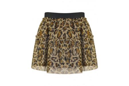 Tulle skirt animal print