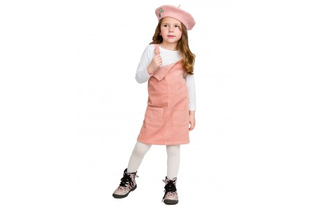 Corduroy overalls dress with the possibility of fluctuation in the straps