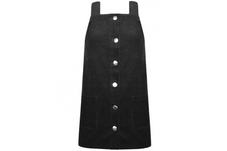 Corduroy dress with metal buttons