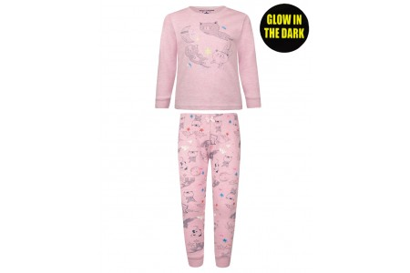 Pajamas print kittens(glow in the dark)