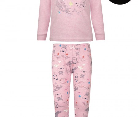 Pajamas print kittens(glow in the dark)