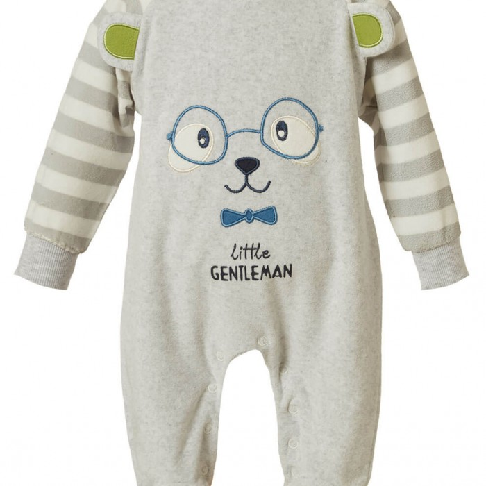 BABY BODYSUIT BOY 80% COTTON - 20% POLYESTER MELANGE