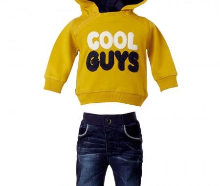 BABY BOY SET 75% COTTON -23% POLYESTER -2% SPANDEX +100% COTTON BLUE