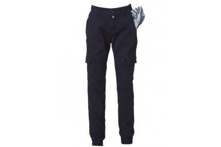 Rubber cargo pants with rubber leg 98% COTTON & 2% ELASTAN INTIGO