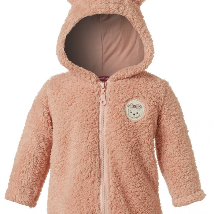 BABY JACKET 100% POLYESTER + 92% COTTON - 8% SPANDEX PINK