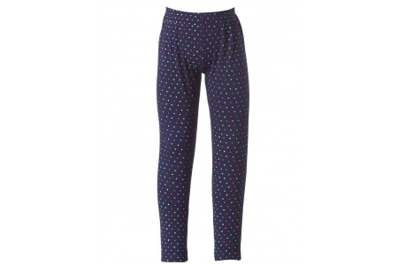 LEGGINS GIRL BEBE 95% COTTON -5% SPANDEX OCEAN BLUE